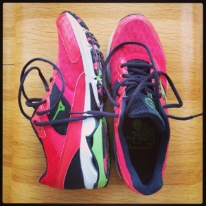 Love my new pink and green speedsters!